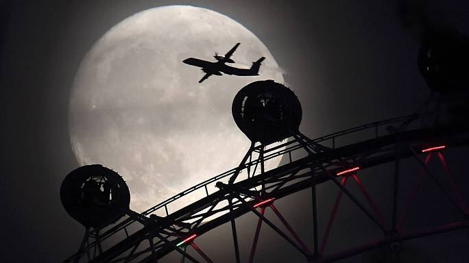 Supermoon shines over Europe