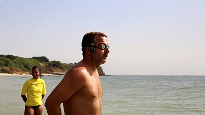 British man sets off on mission to swim from Senegal to Brazil