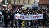Fin d'une marche de migrants entre Belgrade et la Croatie