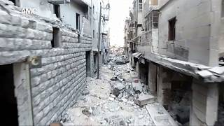 Drone footage shows the extent of Aleppo's destruction