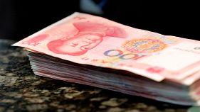China's yuan at 8-year low against the US dollar