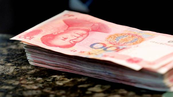 China's yuan at 8-year low against the US dollar
