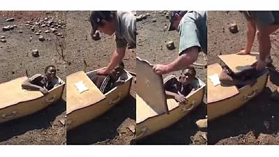 S. Africa: Two 'white racists' force man into coffin, threaten to burn him (Video)