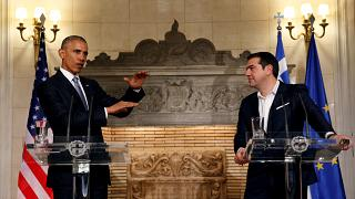 Obama pide en Atenas un alivio de la deuda griega