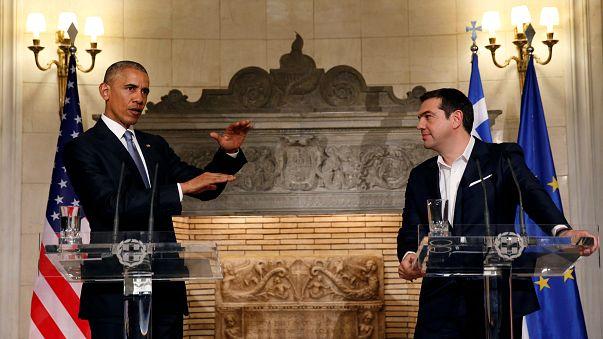Obama urges debt relief for Greece