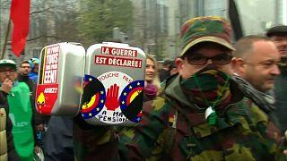 Les militaires en colère à Bruxelles pour défendre leur retraite