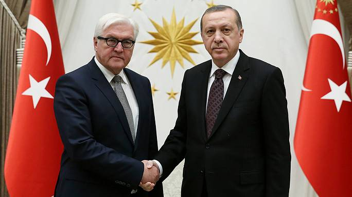 Almanya Dışişleri Bakanı Steinmeier Cumhurbaşkanı Erdoğan tarafından kabul edildi