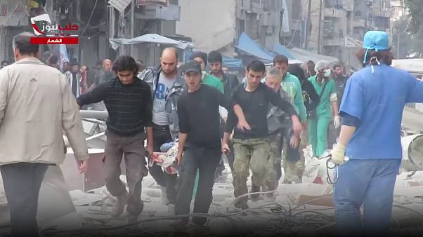 Renewed airstrikes on Aleppo kill at least 20 people, including children