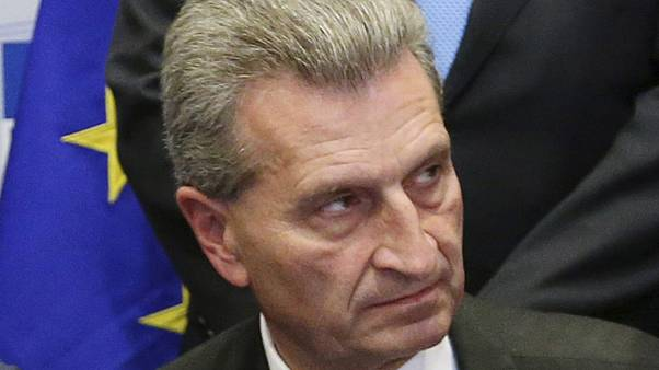 EU's Oettinger under fire over lobbyist's private jet flight