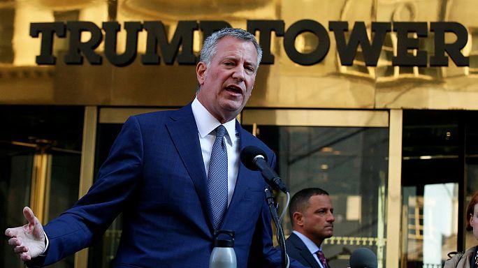 """Bill de Blasio advierte a Trump que Nueva York seguirá siendo """"una ciudad de inmigración"""""""