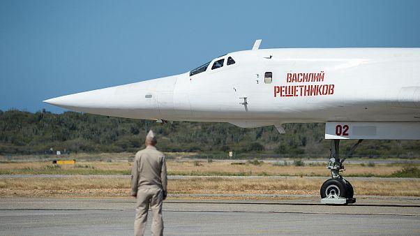 Image: Russian Tupolev Tu-160 strategic long-range heavy supersonic bomber