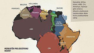Afrika, haritada göründüğünden daha büyük