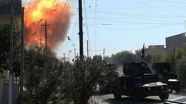 Desplazados por la batalla de Mosul