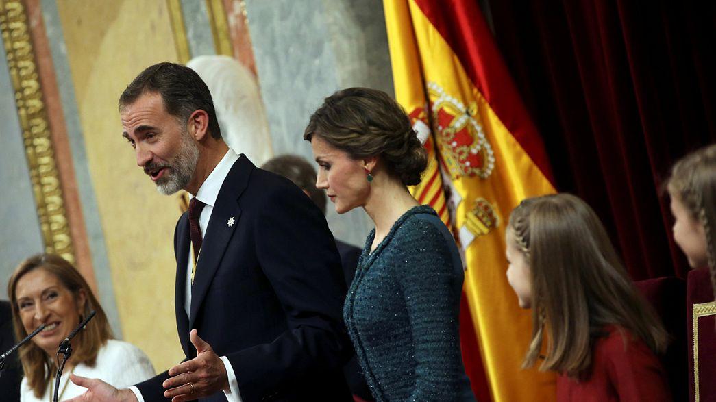 Rei de Espanha centra discurso de abertura da XII Legislatura na luta contra a corrupção