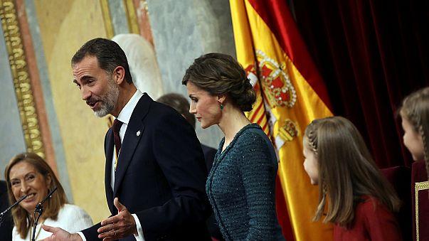 الملك فيليب السادس يترأس مراسم تعيين حكومة ماريانو راخوي