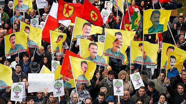 Proteste gegen Erdogan in Brüssel
