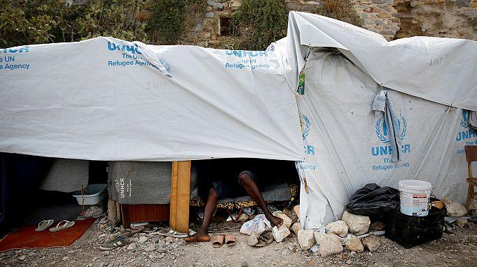 Zavargások egy görögországi menekülttáborban