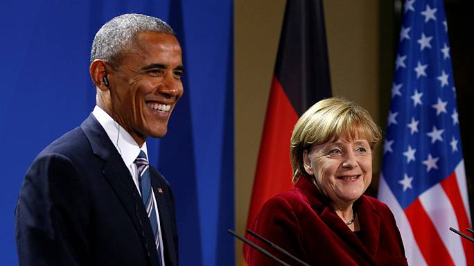 Обама в Берлине высказал опасения, что Трамп не будет следовать его плану