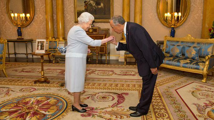 Presidente Marcelo fez rir a rainha de Inglaterra