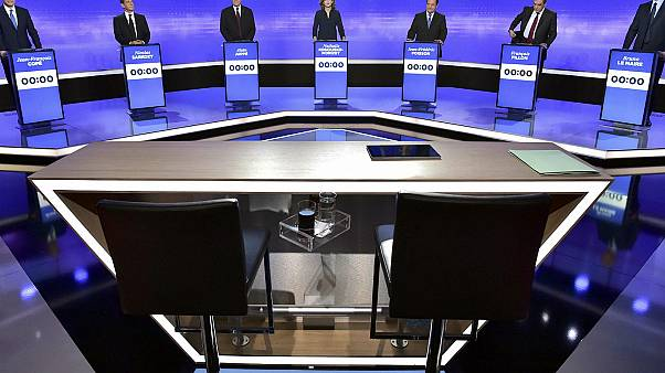 French conservative presidential candidates hold final TV debate