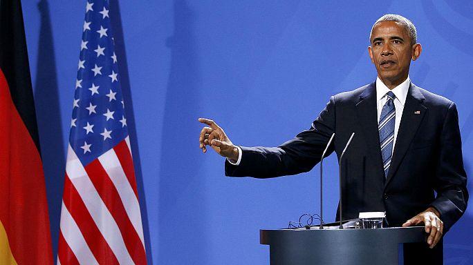 Obama se despide en Berlín de los líderes europeos
