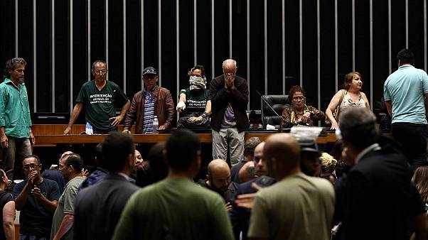 Brazil: anti-government protesters occupy lower house of Congress