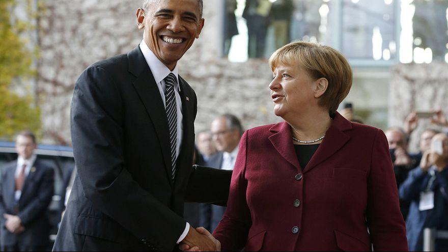 أوباما يلتقي شركاءه الأوروبيين في برلين