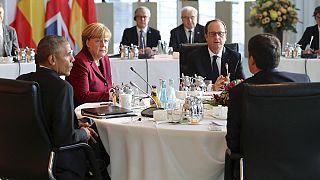 خداحافظی رهبران اتحادیه اروپا با اوباما