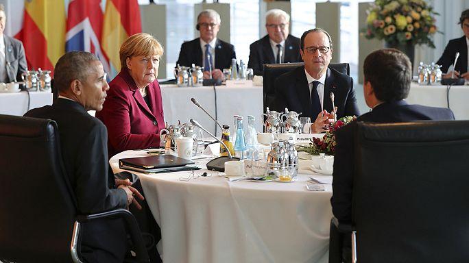 Obama fait ses adieux aux dirigeants européens et lance un appel pour l'Otan