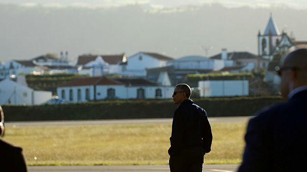 Açores recebe a última visita do Presidente Obama a Portugal