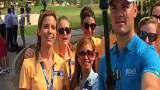 European Tour golfers do the mannequin challenge before DP World Tour Championship