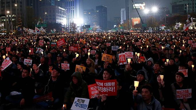 Huge protest against South Korean president as influence scandal intensifies