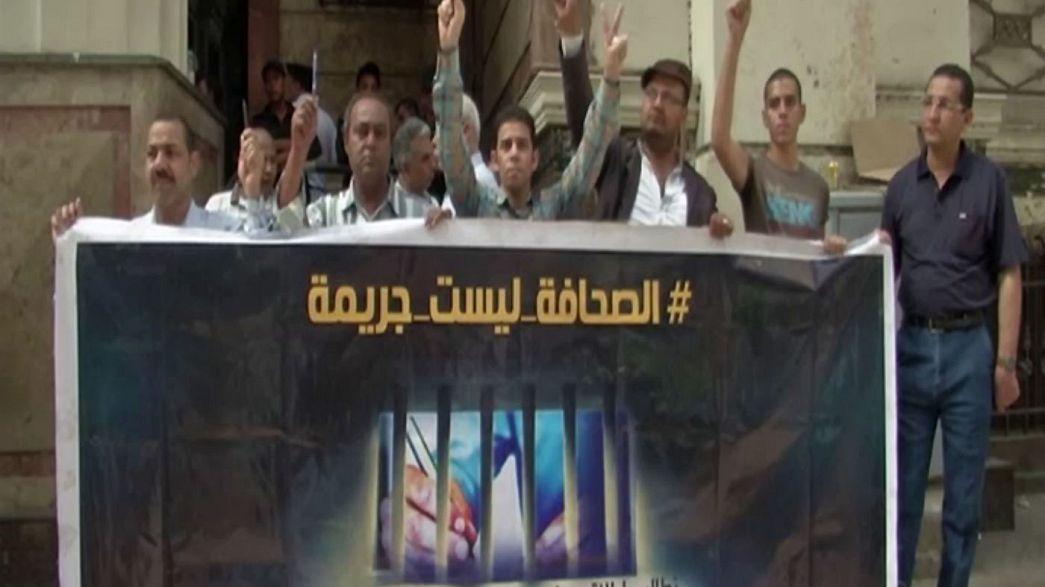 Egito: Jornalistas em protesto