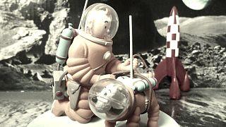 Tintin et ses produits dérivés s'envolent aux enchères