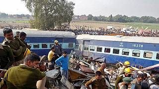 Scores killed in train crash in northern India