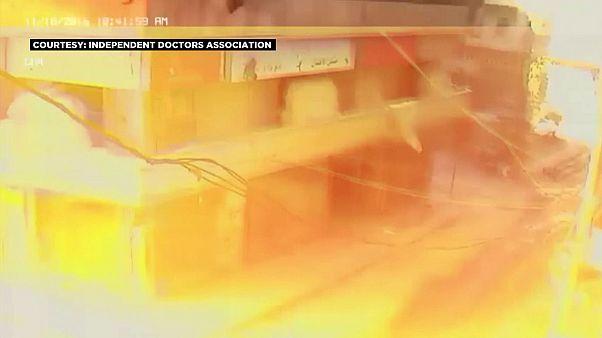 Ataque aéreo a hospital de Alepo (vídeo)