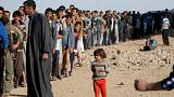 Hundreds scramble for food aid in Mosul