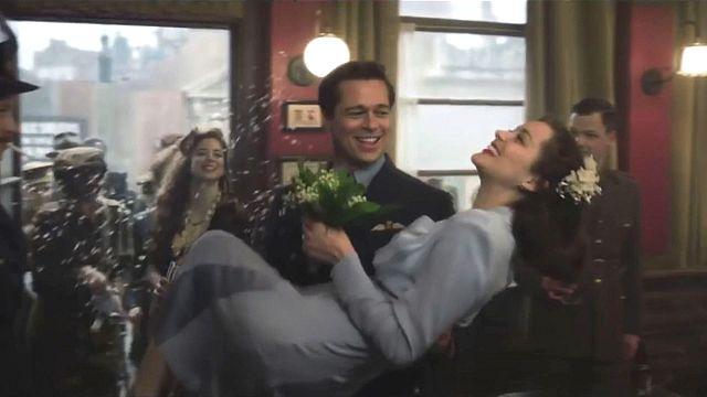 """""""Alliés"""" : Brad et Marion en promo à Paris"""