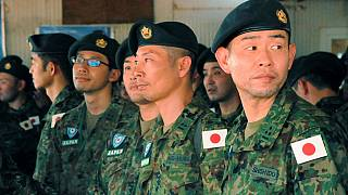 [Photos] Japan deploys troops with 'mandate to use force' in South Sudan