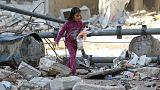 Halep'te savaşın mağduru yine çocuklar