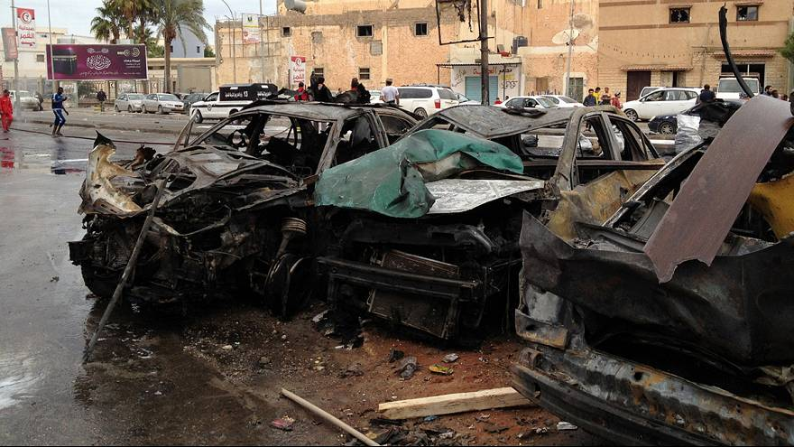 'Children among dead' in Benghazi bomb blast