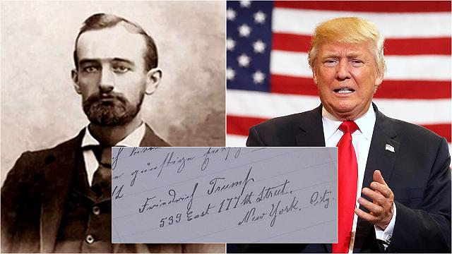 Donald Trump's grandfather moved to US after being 'banished from Germany'