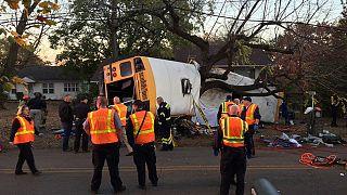 ABD'de okul otobüsü kaza yaptı: Altı çocuk öldü
