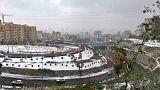 Aufatmen in Teheran: Schnee wäscht Luftverschmutzung weg