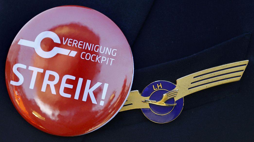 اعتصاب کارکنان، ۹۰۰ پرواز لوفتهانزا را در روز چهارشنبه لغو کرد
