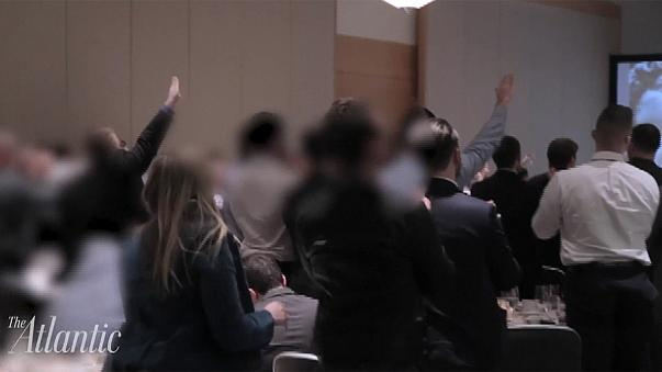 Trump disavows alt-right conference after online video of Nazi salutes in his honour