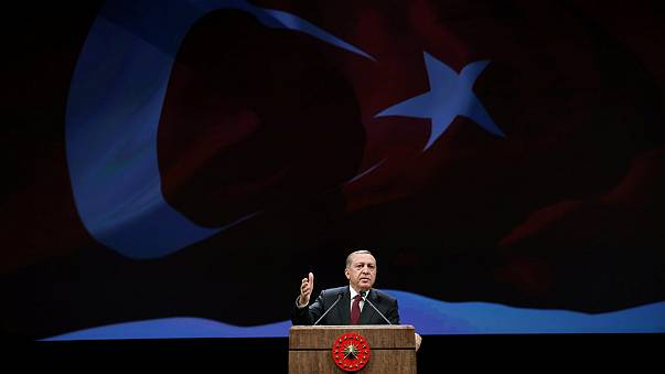 """Presidente turco responde a eurodeputados e acusa o """"Ocidente"""" de acolher terroristas"""