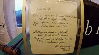 Anne Frank poem auctioned for 140,000 euros