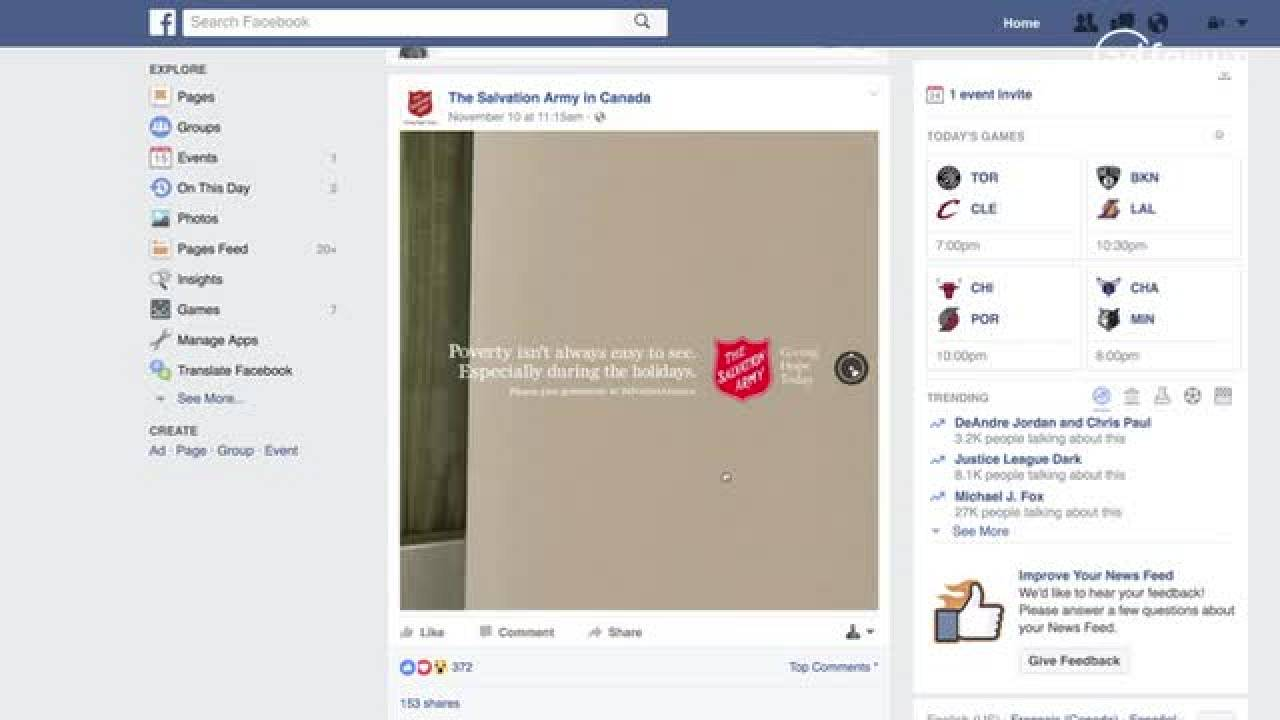 Facebook 360 Video (The Salvation Army)
