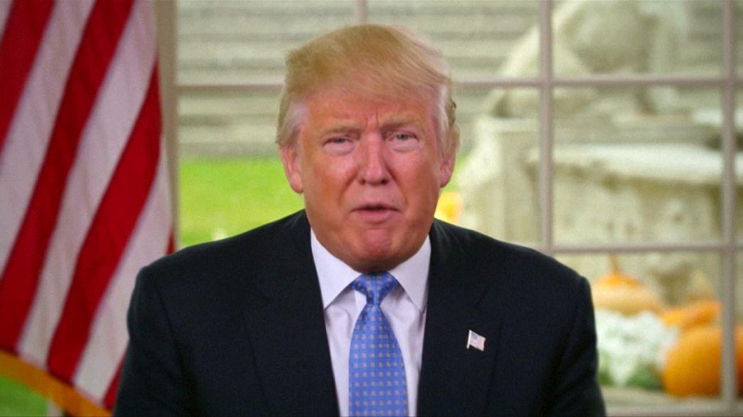 Trump faz apelo à união nos EUA e diversifica equipa